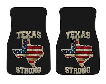 Texas/Strong/American Flag/Car/Truck/SUV/Auto/RV/Floors Mats/Gifts/State Flag/Art/Home