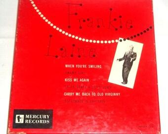 Vintage Mercury Records Frankie Laine Boxed Set of Three 45 RPM