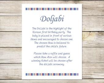 Doljabi Board | Alexl | Printable | Korean first birthday | What is doljabi