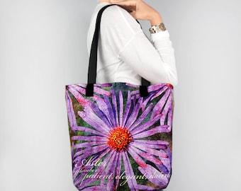 Birthday Blossoms September Birth Month Flower Aster Tote Bag