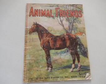 ANIMAL FRIENDS LINEN Children's Book