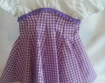 dolls purple dress