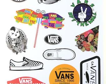 vans sticker set