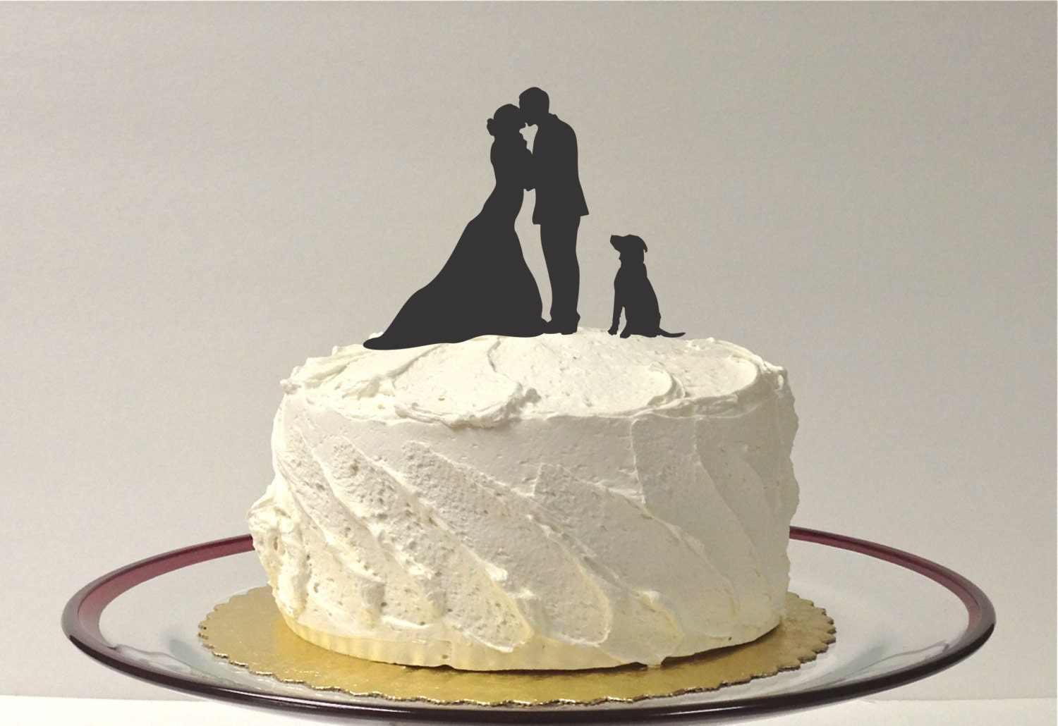 MADE In USA Silhouette Cake Topper With Pet Dog 48 Different