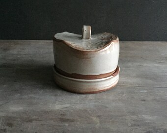Pottery Butter Dish, Covered Butter Dish or Cheese Plate Serving Dining Wedding Gift *Ready to Ship*
