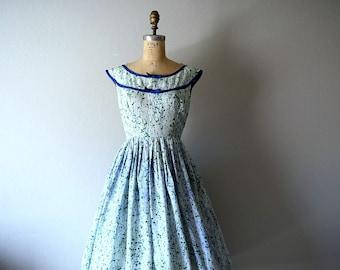 50% SALE . 1950s floral print dress . vintage 50s dress