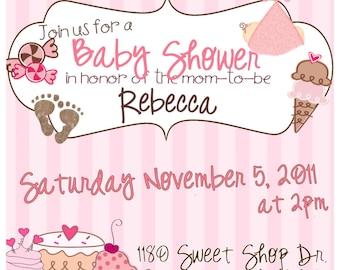 Sweet Shoppe Babyshower Invite