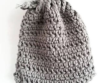 Crochet pouch made of cotton, soap pouch