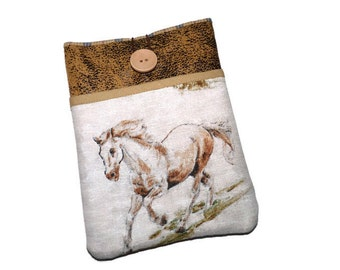 Kindle cover, Kindle paperwhite sleeve, Kobo Touch case,  Kindle Voyage case,  Ereader  Pouch, NOOK GlowLight Plus - Horses - on sale