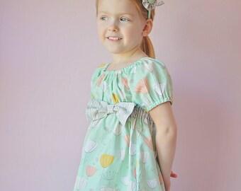 Back to School Dress  SEW CLASSIC Empire Waist Peasant Dress Pattern - Girl Dress Pattern - PDF Sewing Pattern Sizes 6m-14c