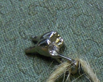 Doc Holliday mini golden brass tooth. Human molar tiny replica handmade & cast. Dental, Dentist, Hygienist, Medical Small Charm