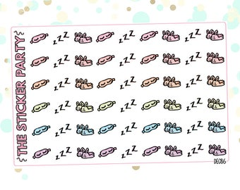 Sleep Planner Stickers Eye Mask Planner Stickers