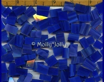 Mosaic Tile 50 VIBRANT DARK BLUE Stained Glass Mosaic Tiles