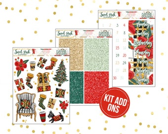 Noel // Kit ADD ONS-Stickers for the EC Happy Planner Life planner