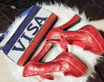 Vintage 1031 Dorthy Red Heels