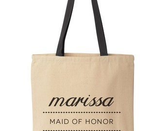 Maid of Honor Proposal, Custom Maid of Honor Gift Bag, Personalized Maid of Honor Ask Tote Bag, Day of Wedding Maid of Honor Welcome Bag,