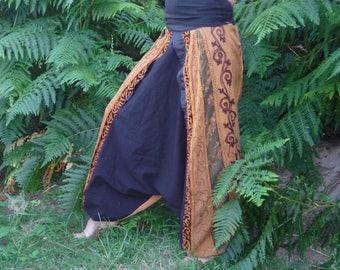 Harem original woman, recycled, Brown and black, OOAK