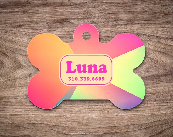Dog Tag for Dogs Colorful Dog Tags Dog ID Tag Pet Gift Pet ID Tag Pet Tags Colorful Dog Tag ID Custom Dog Tag Cute Dog Tag Custom Pet Tag