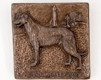 Bronze sculpture Irish folklore wall art