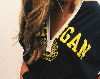 ANY SCHOOL** College Quarter Zip T-shirt