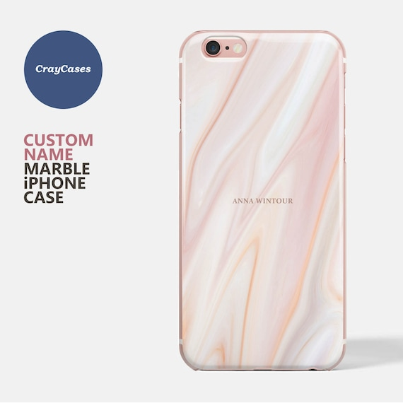 iphone 7 plus phone case marble personalised