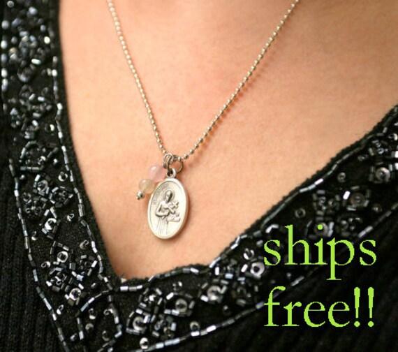 Fertility necklace st gerard pendant fertility jewelry aloadofball Image collections