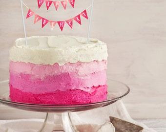 Birthday Cakes For Teenage Girls ~ 50% off sale birthday cake banner printable cake topper