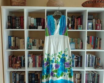 VINTAGE 1960's Floor Length Hawaiian Dress by Waltah Clarke's Hawaii - available