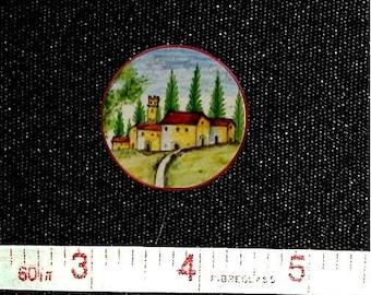 Dollhouse Miniature 1:12 Scale Artisan Handpainted Majolica Plate