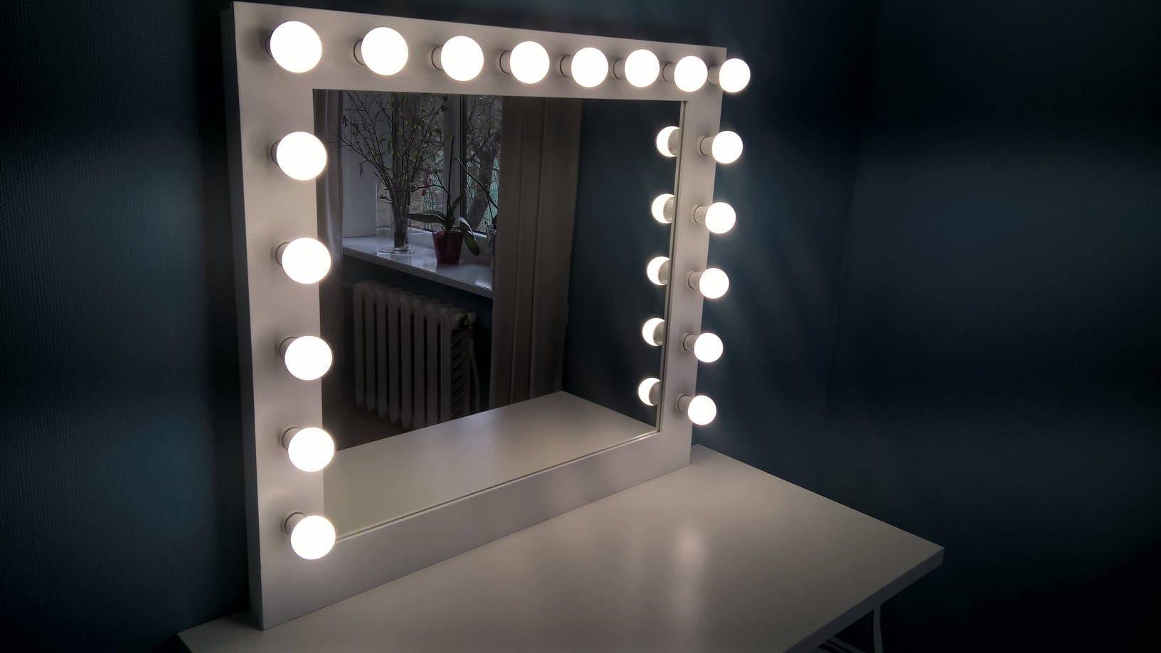 Espejo grande Hollywood vanidad del espejo maquillaje con