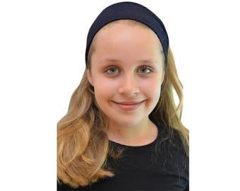 Blue Headband - Fitness Headband - Workout Headband - Yoga Headband - Nylon Headbands - Boho Headband Wide - Running Headband