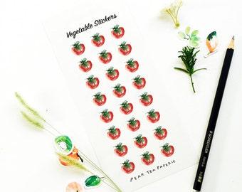 Tomato Stickers, Vegetable Stickers, Planner Stickers, Weekly Stickers, Sticker Art, Erin Condren, Decor Stickers, Eatable Stickers