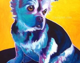 Pekatzu, Pet Portrait, Pekatzu Art, DawgArt, Dog Art, Pet Portrait Artist, Colorful Pet Portrait, Pet Portrait Painting, Art Prints