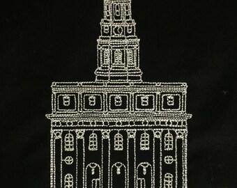 Embroidered Nauvoo Illinois Temple