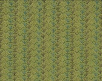 Leaf Soho Fans, 100% Cotton Fabric Sold by Half Yard (24147)