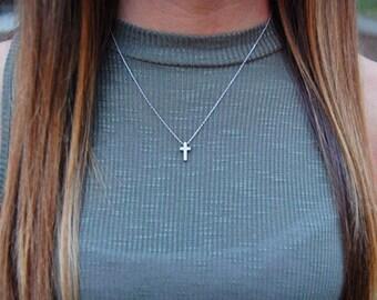 Cross Necklace, Tiny Cross, Cross Charm, Tiny Cross Necklace, Faith Necklace, Christian Jewelry, Faith, Christian, Cross Jewelry