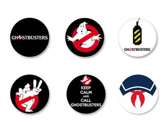Lot Pins Ø25mm - o38mm Pinback Button Badge / Magnet o38mm Film Movie called Ghostbusters, Ghostbusters
