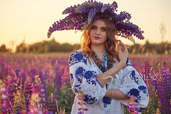 Size Blue Model style Style XXL and tunic Ukrainian embroidery shirt White blouse blouse linen black XXS embroidered Boho Vyshyvanka qRHzAT