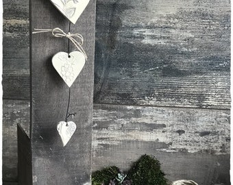 Height 30 cm ceramic stoneware heart Garland