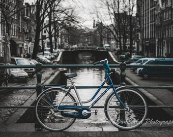 Biking in Amsterdam, Travel Photography - DIGITAL Downloadable File