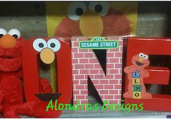 Elmo sesame Street birthday,Elmo 1st birthday, Elmo prop letters,Elmo cake smash,Sesame st birthday,Elmo letters,Elmo dress,Elmo One letters