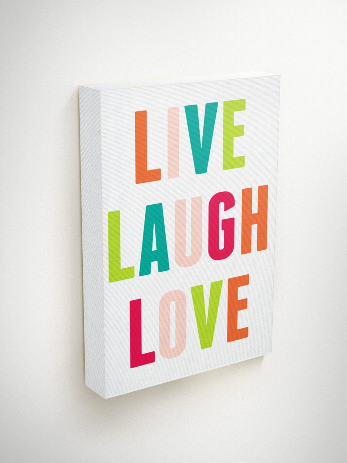 Live Gold Quotes Live Love Laugh Canvas Love Live Quotes On Canvas Modern