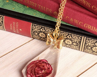 Red Rose Crystal Pendant