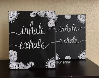 inhale, exhale henna canvas