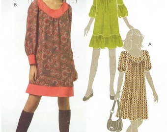 Womens Pullover Dress in Two Lengths Sleeve Variations OOP McCalls Sewing Pattern M5516 Size 4 6 8 10 12 Bust 29 1/2 to 34 UnCut
