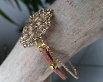 Rose gold camel link bracelet