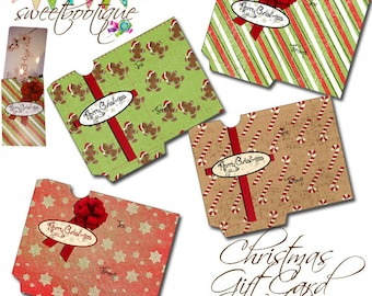 Christmas Gift Card Holders - DIY - Printable - INSTANT DOWNLOAD!