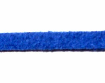 1 meter 4mm wide - CAIP 4 mm Royal Blue Suede