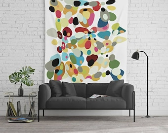 Wall Tapestry, Retro Wall Art, Dorm Room Decor, Boho Wall Art, Art Tapestry, Large Abstract Art, Boho Tapestry, Art Wall Hanging