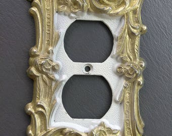 Victorian Switch Plate Covers 10 pieces total Edmar 60T Style Cast Metal